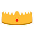 isolated royal crown icon vector image