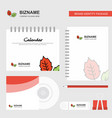 leafs logo calendar template cd cover diary and vector image vector image