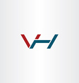 letter v and h logo icon combination symbol vector image vector image