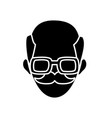 man face character people employee profile vector image