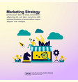 marketing strategy concept with people character vector image vector image