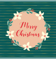 merry christmas hand drawn vector image