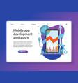 mobile app development landing page template