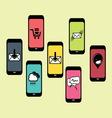 mobilni social media1 resize vector image vector image