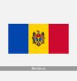 moldova moldovan national country flag banner icon vector image vector image