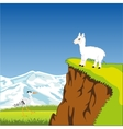 Mountain landscape with animal vector image vector image