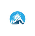 mountain logo business template vector image vector image