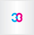 number 33 thirty three icon vector image