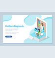 online medical consultation with doctor concept vector image