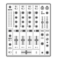 outline sound dj mixer vector image vector image