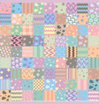 patchwork handicraft fabric background vector image vector image