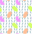 pattern with colorful brush strokes vector image vector image