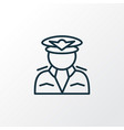 pilot icon line symbol premium quality isolated vector image