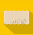 post stamp icon flat style vector image