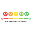 rating satisfaction feedback in form emotions vector image vector image