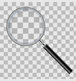 realistic magnifying glass isolated on transparent vector image vector image