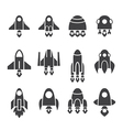 rocket icon set vector image