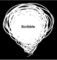 Scribble white bubble vector image