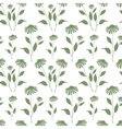 Seamless pattern with green Echinacea plant vector image vector image