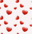 seamless pattern with red polygonal heart vector image