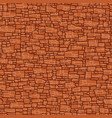 seamless red wall from stones different sizes vector image