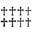 set christian religious crosses design vector image vector image