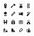 Set icons of camping vector image vector image
