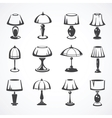 Set of table lamps vector image vector image