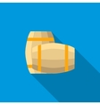 Set of wooden barrels icon flat style vector image vector image