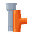 sewage pipes icon water system industrial pipe vector image