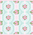 shabby chic rose seamless pattern on polka dot vector image