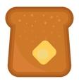 Slices of breakfast bread vector image vector image