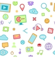 Social Media Icons with Emoticons and Internet vector image vector image
