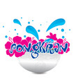 songkran songkran is thai culture bowl pink flowe vector image vector image