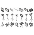 spotlight icons set isometric style vector image vector image