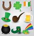 St Patricks Day Icons Collection vector image vector image