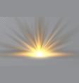 sunrise sunlight special lens flash light effect vector image