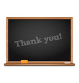 thank you chalkboard inscription vector image