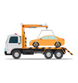 tow truck car for transportation vector image vector image