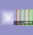 triangle pattern set fruit ice seamless vector image vector image
