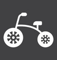 tricycle solid icon bike and toy vector image vector image