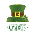 Typographic Saint Patricks Day Retro Background vector image vector image