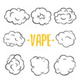 vape on white background vector image vector image