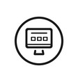 website line icon on a white background vector image vector image