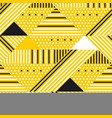 yellow and black geometric modern seamless pattern vector image