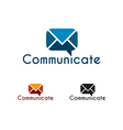 Communicate logo template vector image
