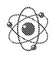 Atom sign on white vector image