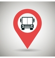 red signal of truck isolated icon design vector image