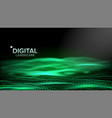 abstract landscape particle wireframe big vector image vector image