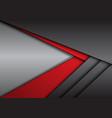 abstract red grey metallic arrow direction vector image vector image